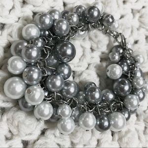 Charcoal and Silver Bracelet